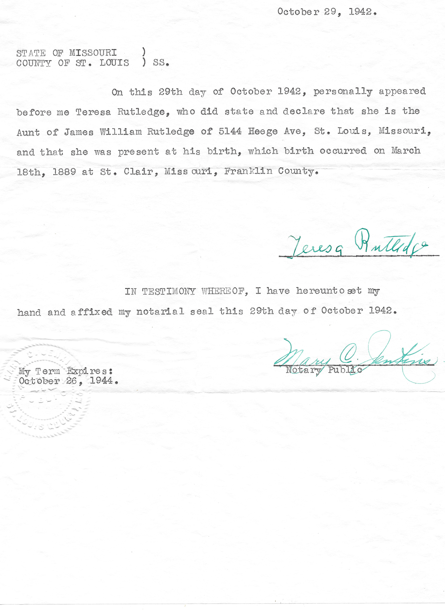 James william and mary rubina mae rutledge of james williams father james bernard rutledge james william also has a brother named stephen john rutledge his special certificate of birth 1betcityfo Gallery